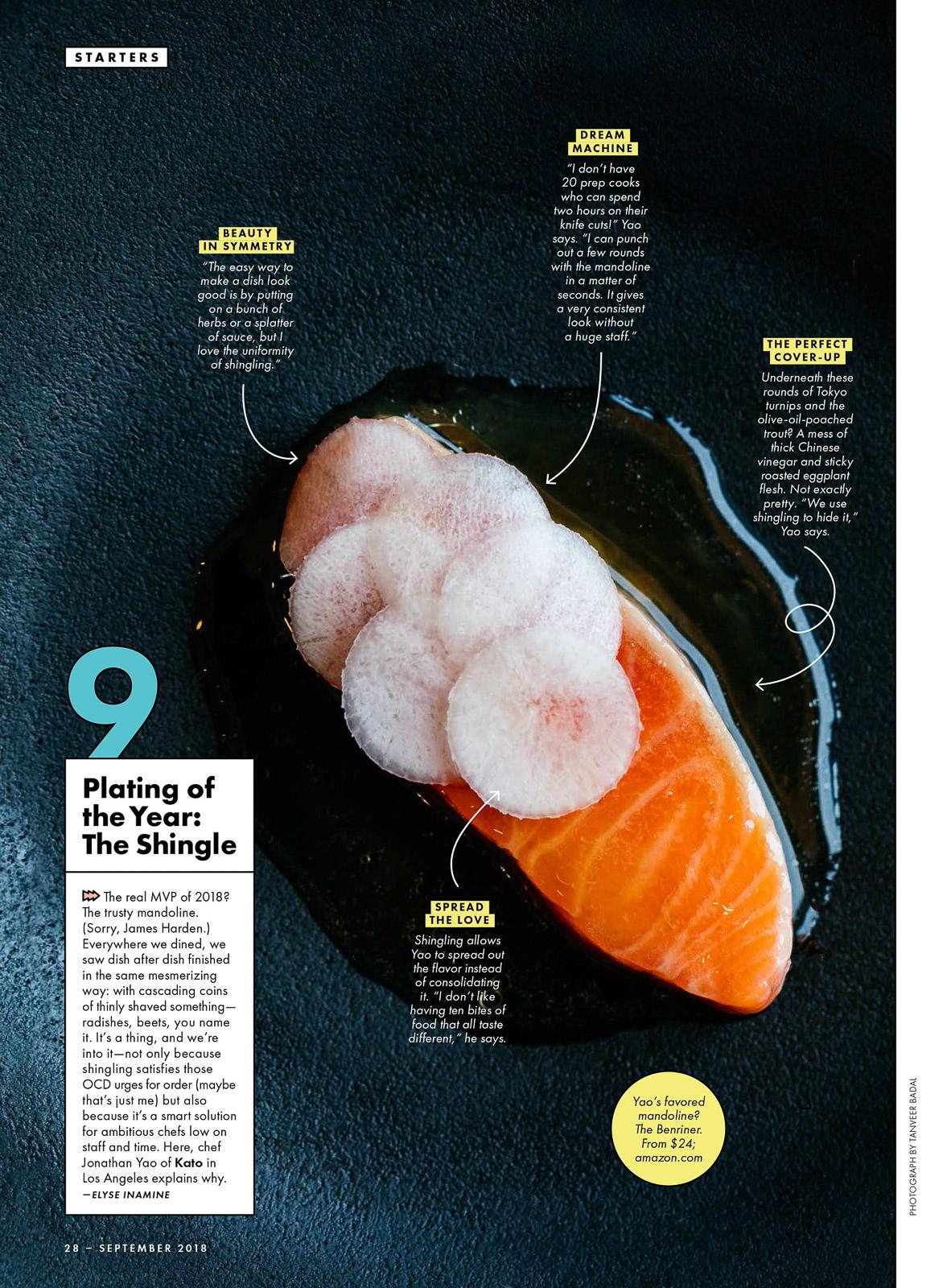 "Bon Appétit Magazine - ""Plating of the Year"""