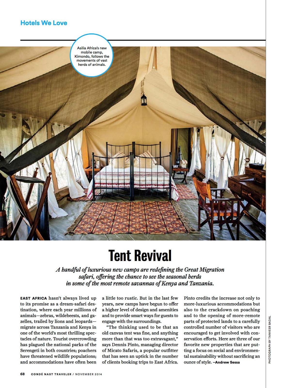 Condé Nast Traveler (US) - Tent Revival