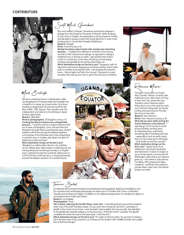 Condé Nast Traveler (ME) - Contributors