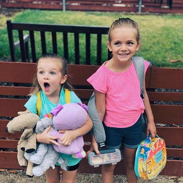 Fiona is so excited! Jaden started kindergarten today!! ❤️❤️