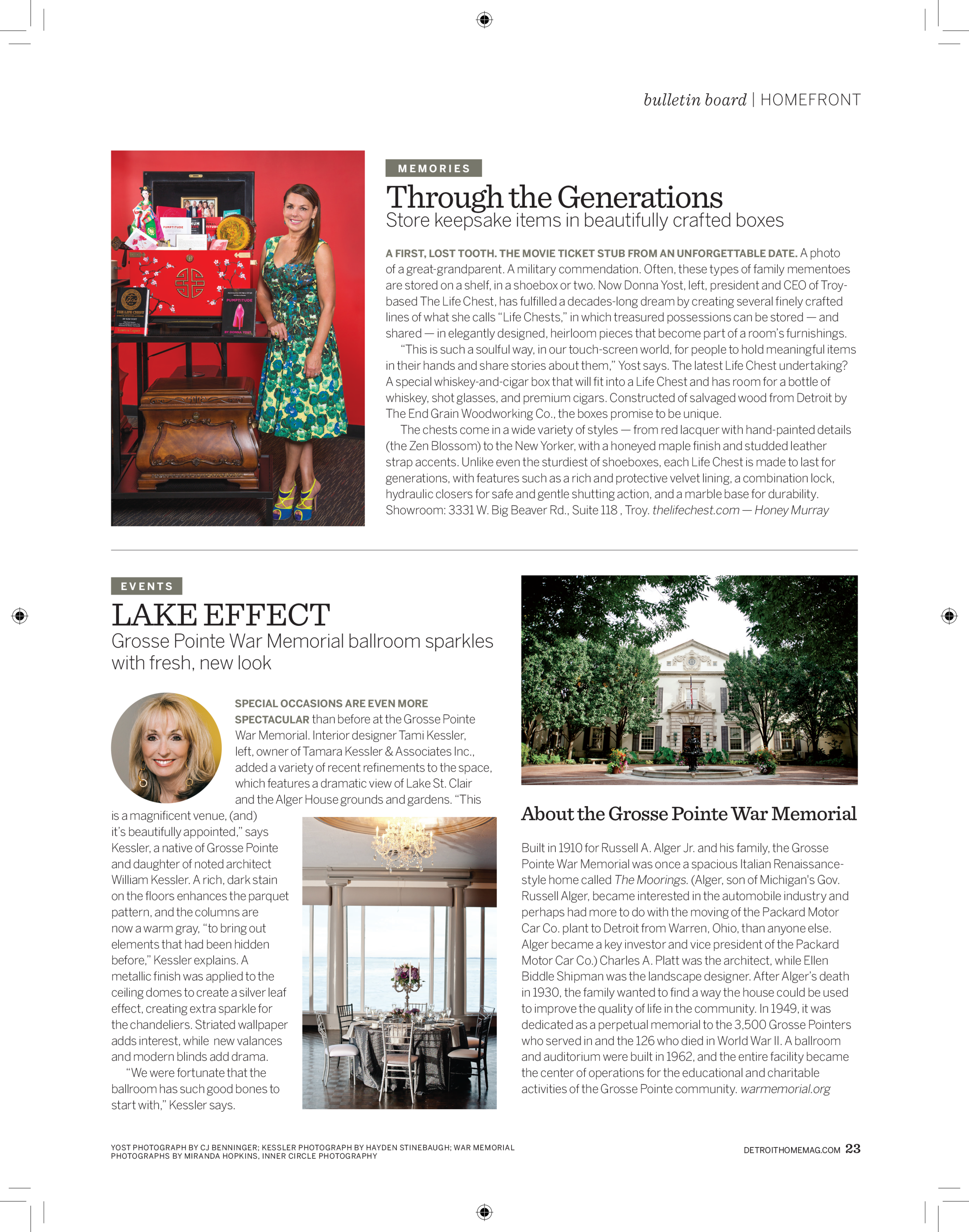 The Life Chest in Detroit Home Magazine
