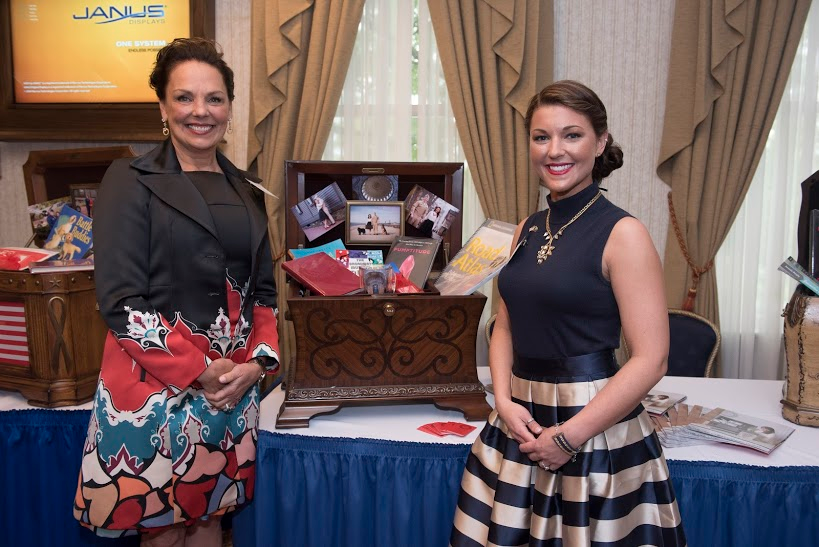 Lindsay Bradford with her Legacy Life Chest™ and CEO Donna Yost