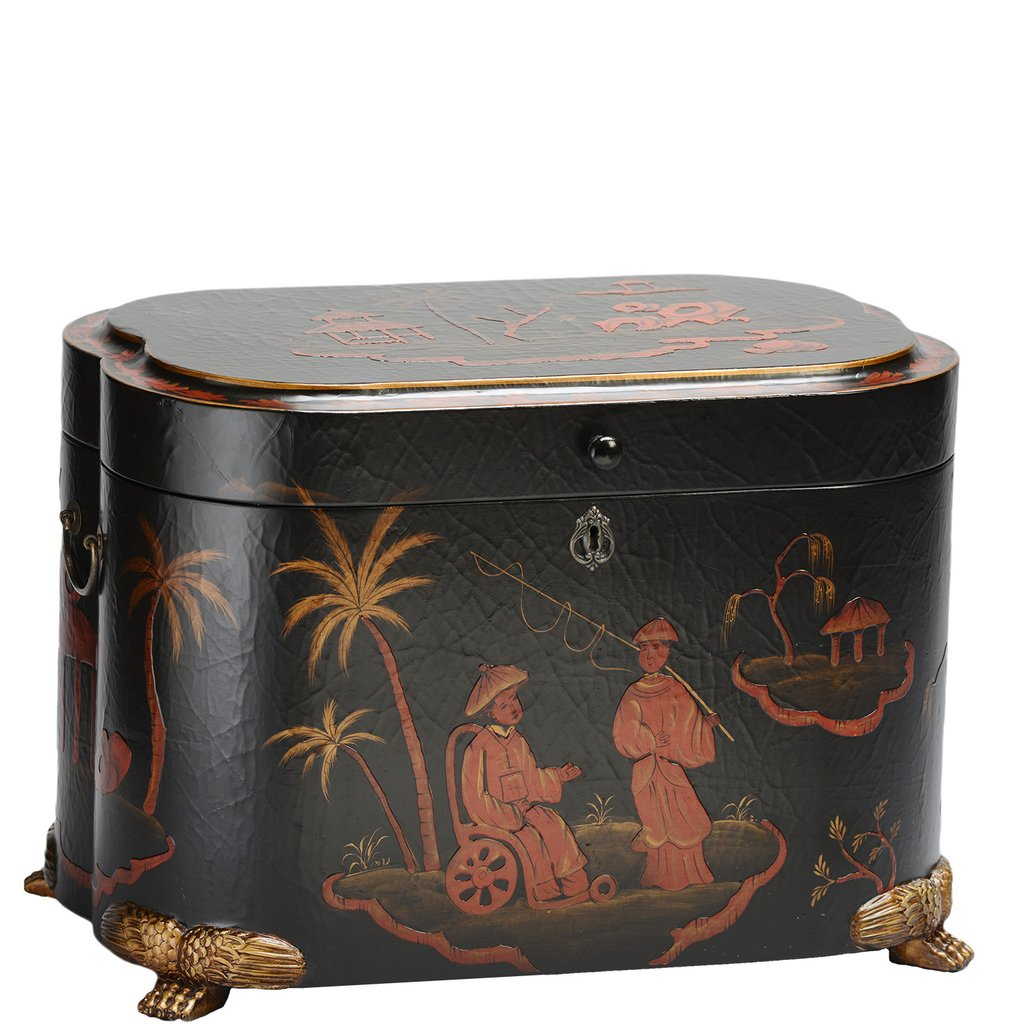 """The Dynasty Life Chest™ - The Dynasty showcases the legend of The Life Chest. With gently rounded corners and a claw foot base, the Dynasty tells its own story through hand-painted Asian-inspired scenes that cover its textured exterior.A divided interior with two vertical non-removable dividers, an elegant velvet lining and a sectioned removable tray complete the design of this fabled chest.Dimensions: 24.5"""" W x 16"""" D x 16.5"""" HWeight: 42 lbs."""