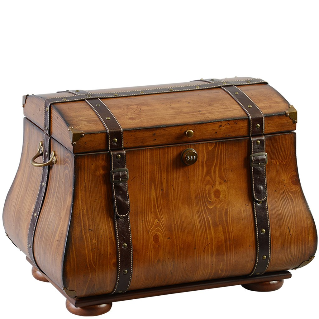 "The New Yorker Life Chest™ - With its rich honey maple finish, The New Yorker is rustic simplicity.The New Yorker features high quality leather straps complimented by gold accents.The spacious interior includes soft espresso-toned velvet, a sectioned tray, one horizontal and one vertical removable divider as well as a veined marble floor.Dimensions: 24"" W x 16"" D x 17.5"" HWeight : 49 lbs."