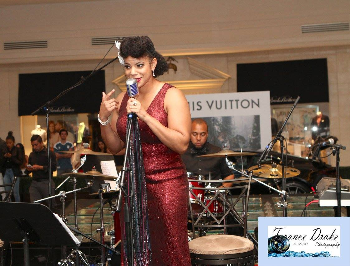 Ajia Clark Performing at The Life Chest™ and Louis Vuitton Event in Somerset Mall