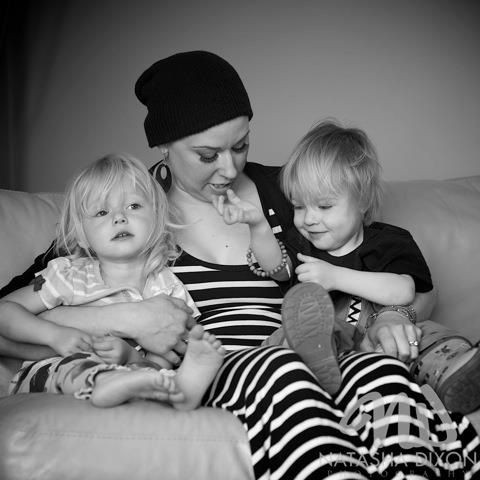 Kristi Sainchuk with her children from Edmonton, AB Cancer Survivor