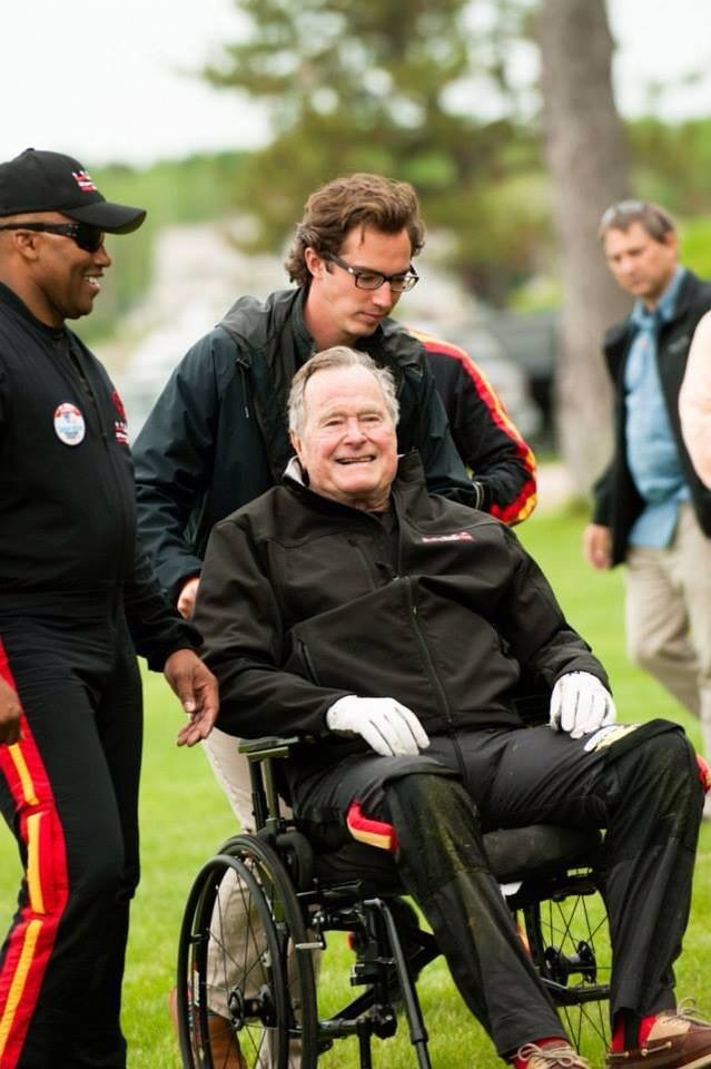 AVG Founder Mike Elliot with George Bush Sr. After the Jump