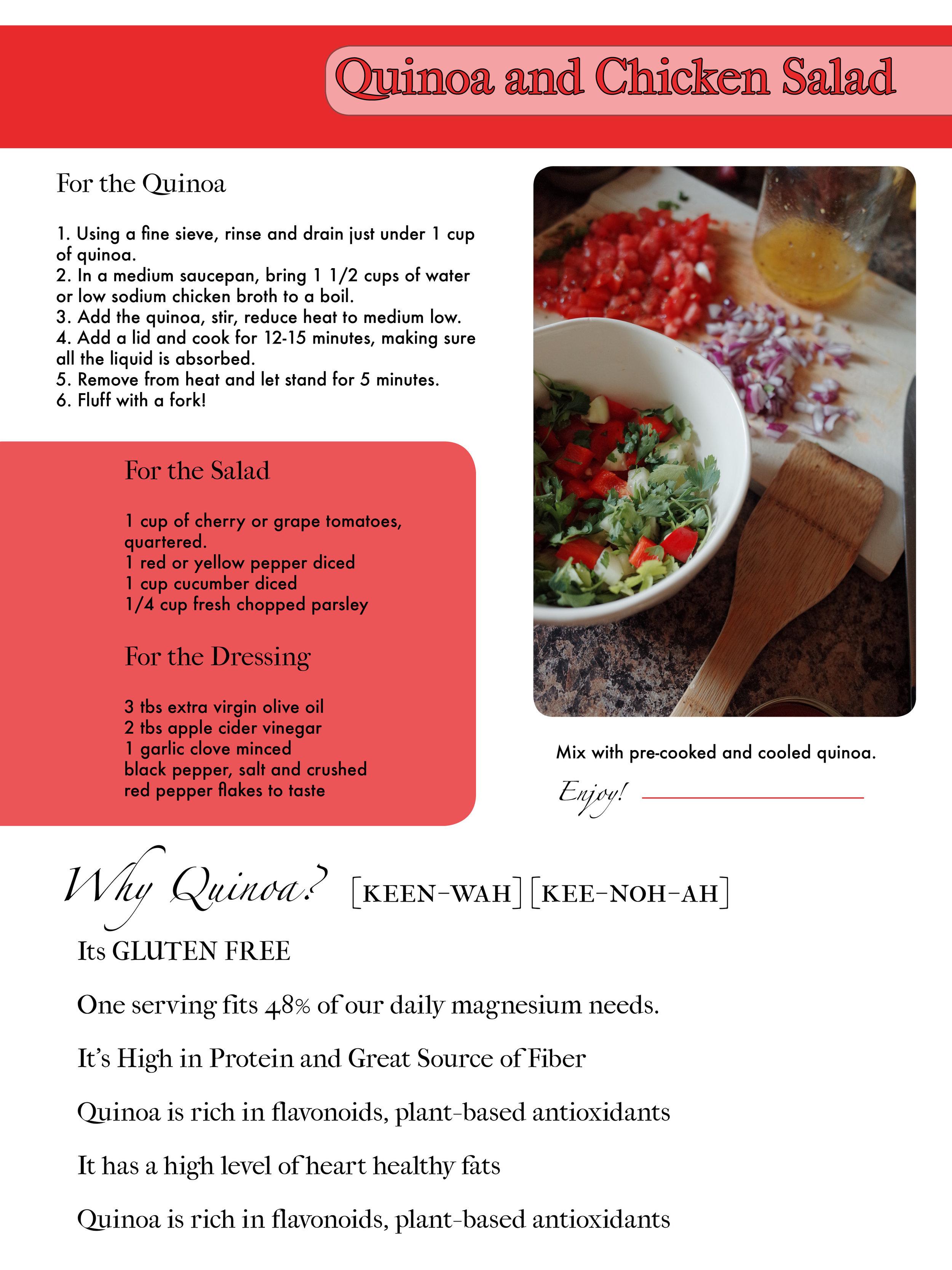 Quinoa and Chicken Salad Recipe