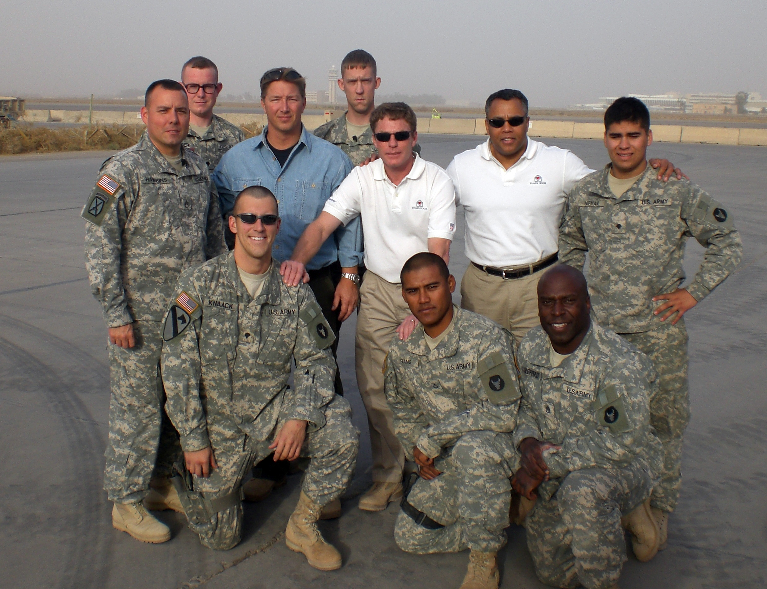 Mark Ranger Jones and Ken Fisher in Iraq
