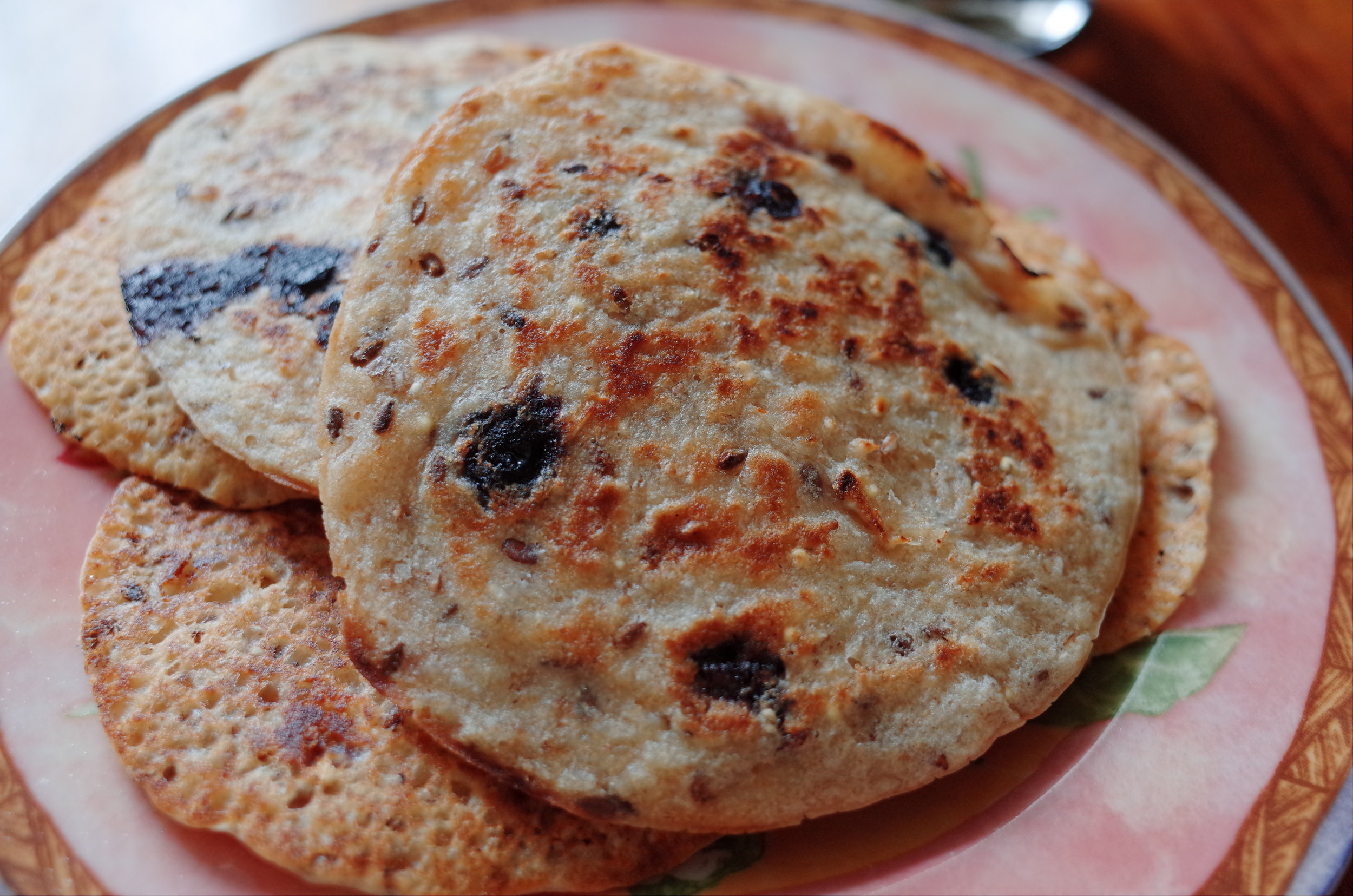 Vegan Coconut Blueberry Pancakes