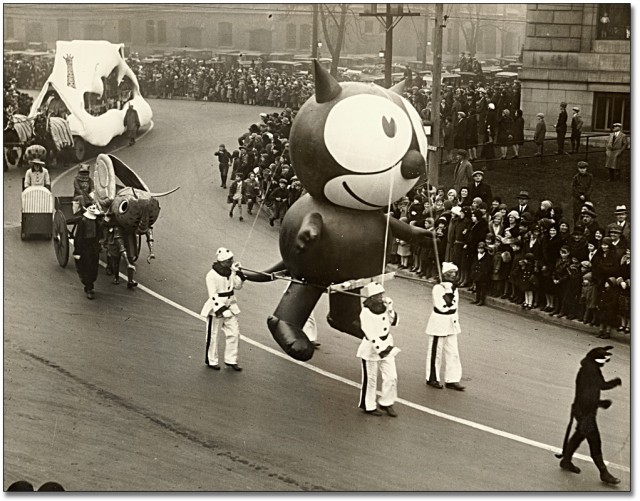 Felix the cat Thanksgiving Parade