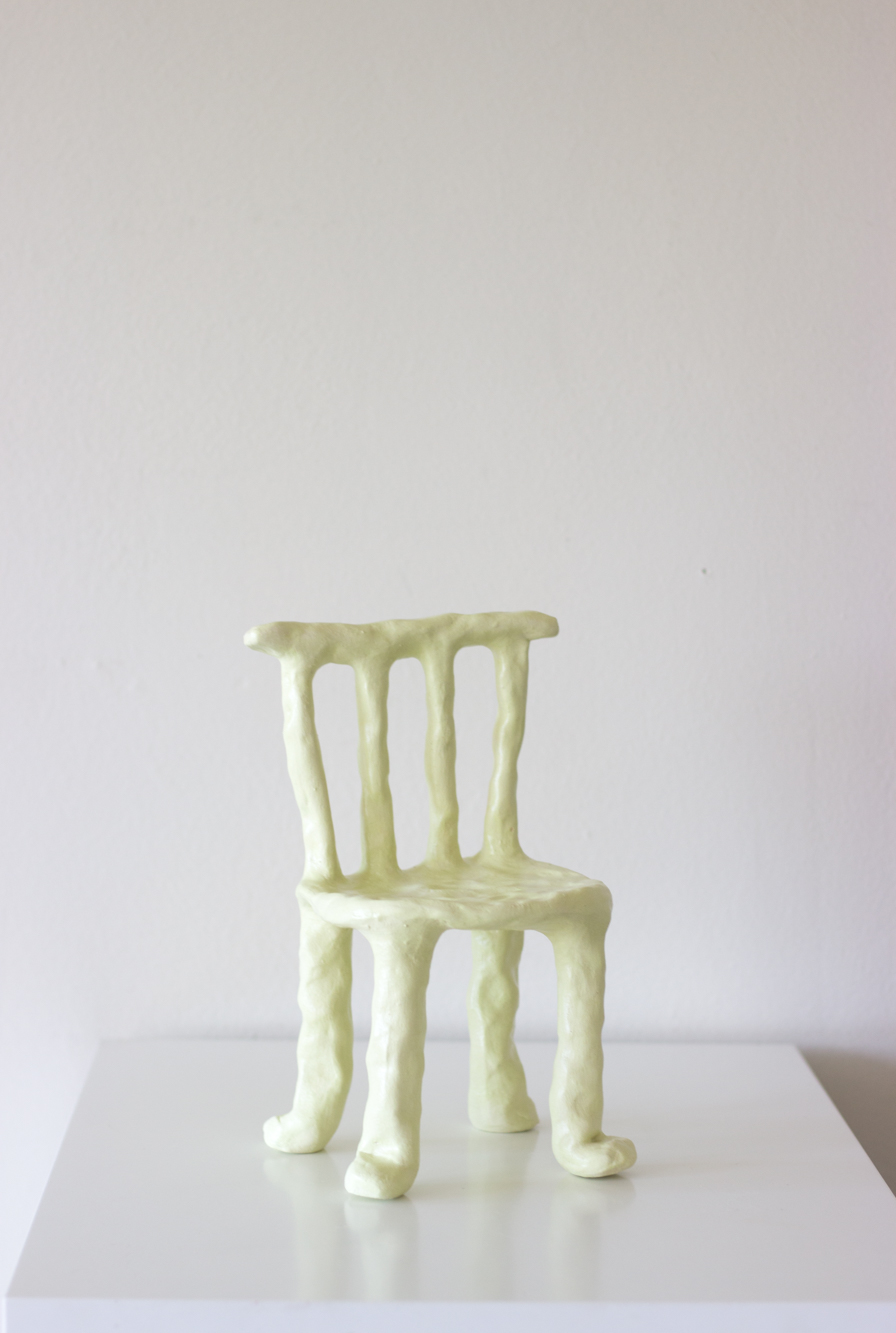 Chair # seven  ceramic and satin varnish