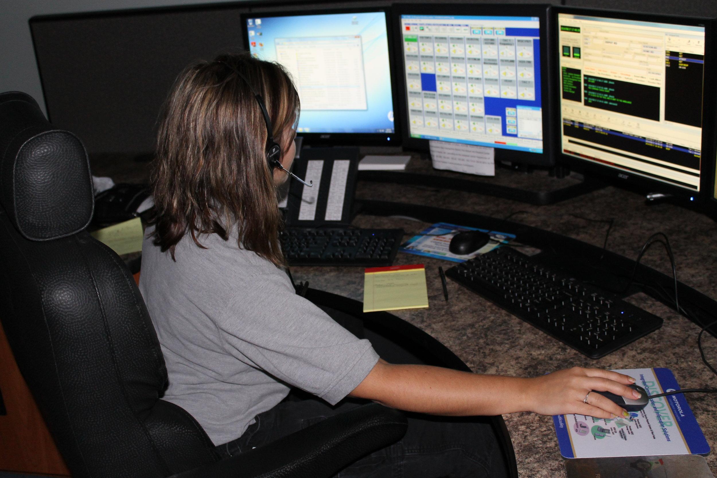 Dispatcher Anna Kercewich.