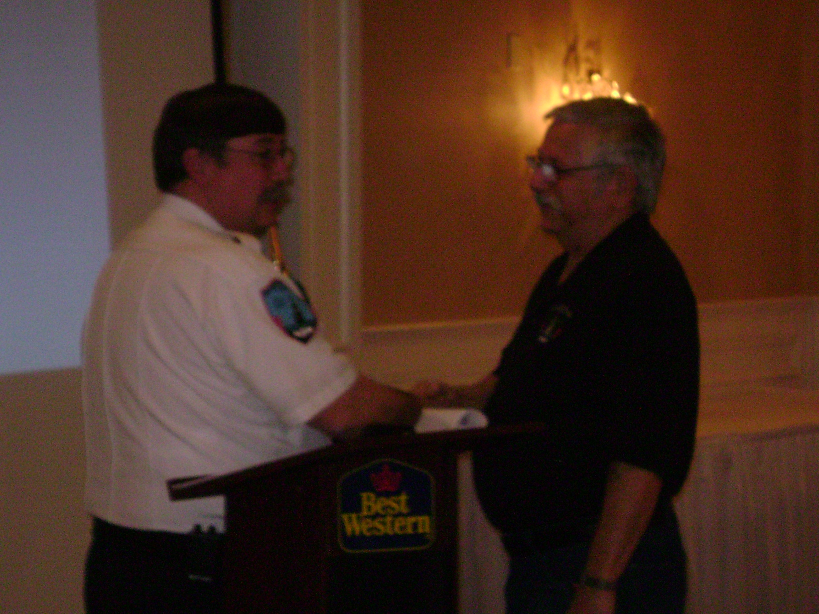 Ed Mattson receives 35 years of service award in 2013.
