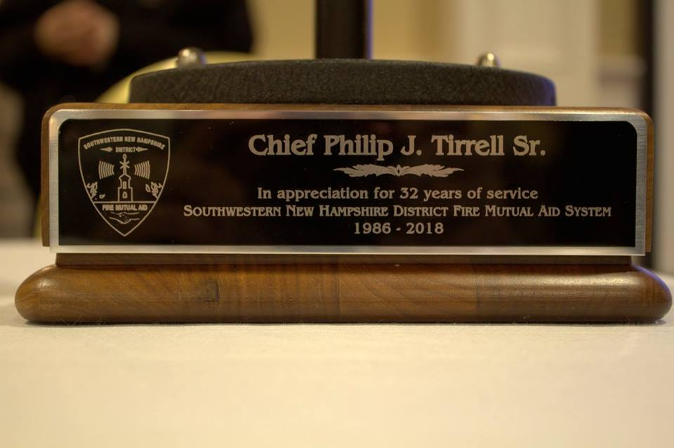 Chief Tirrell Retirement Gift 2018