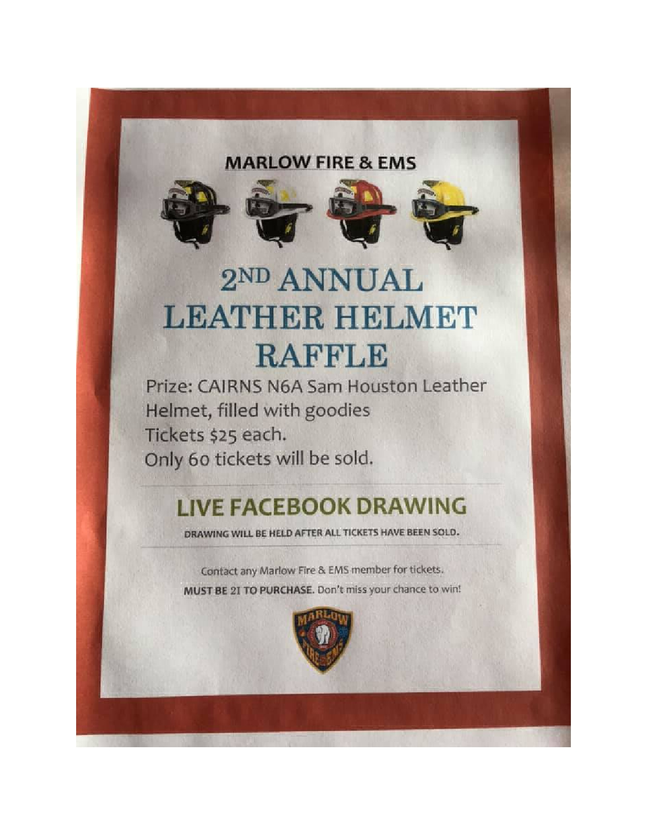 Marlow Fire Department is holding their 2nd Annual Leather Helmet Raffle-page0002.jpg