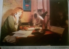 Michelle Ross Turner    during her days on the  Terrence Higgins helpline