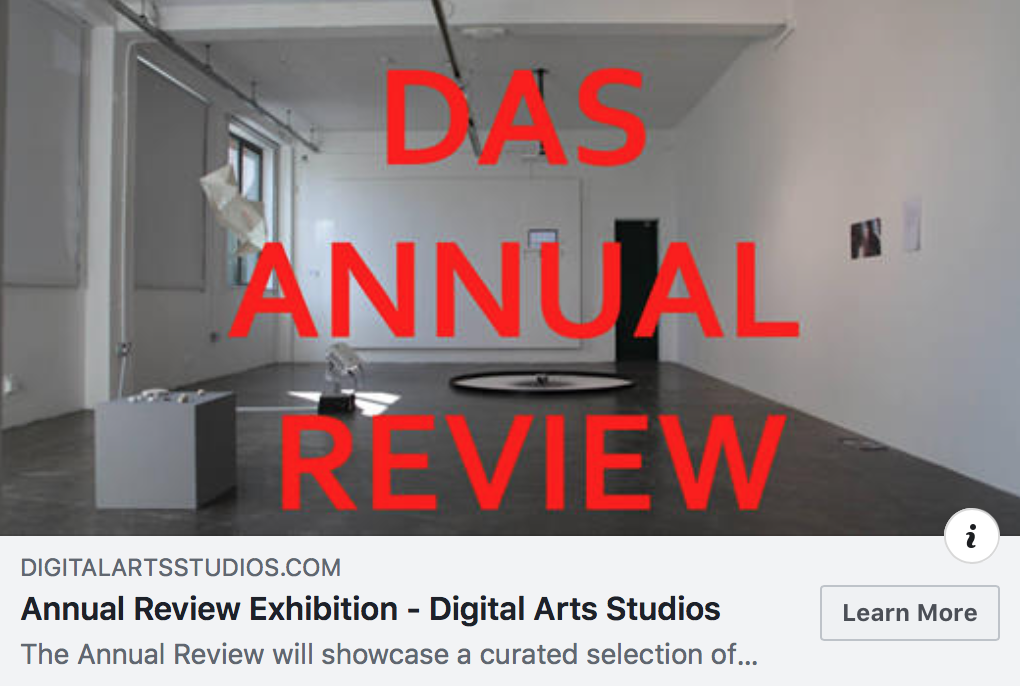 WE ARE JUDGING AND CURATING THIS YEAR'S DIGITAL ARTS STUDIO ANNUAL SHOW   https://www.digitalartsstudios.com/events/annual-review-exhibition?fbclid=IwAR0QAKgfjwiaDgLy4LYb5PpDt-bvm2AshGu7bC3bdbWUNswQL4497O74ghs