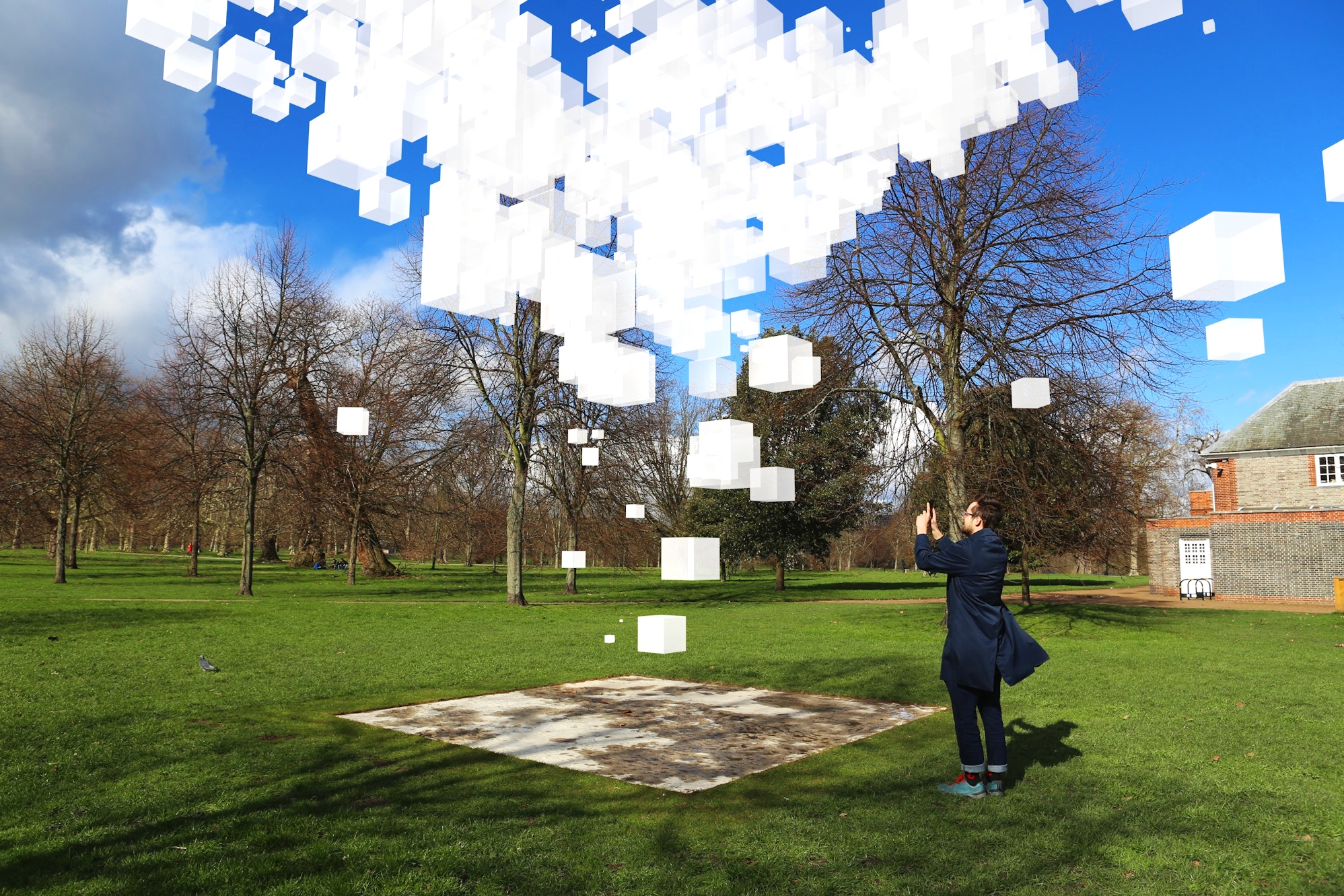 AUGMENTED REALITY SCULPTURE    Augmented Reality / Sculpture  This augmented reality sculpture made it to the final 5 of this year's prestigious Augmented Architecture opportunity by the Serpentine Gallery.    London Serpentine, UK, April 2019