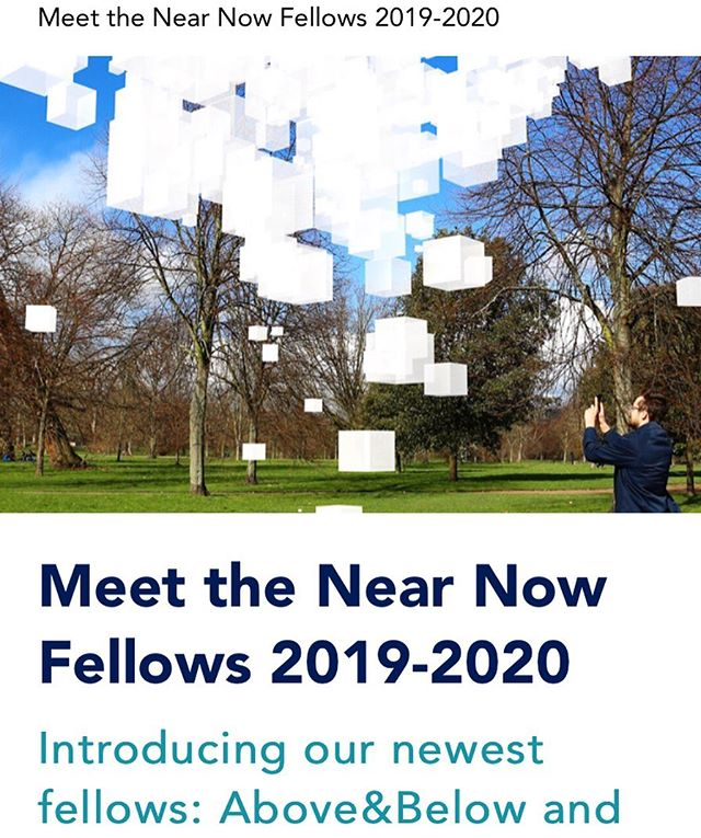 We are happy to share that @studioaboveandbelow receives the @nearnow fellowship 2019-2020 - fully sponsored by @aceagrams - Through the Near Now Fellowship, we will use augmented reality technologies and live data in physical and digital experiments that give our environment a voice to teach us about its needs. #nearnow #fellowship #art #mediaart #interactiondesign #augmentedreality #pollution #data