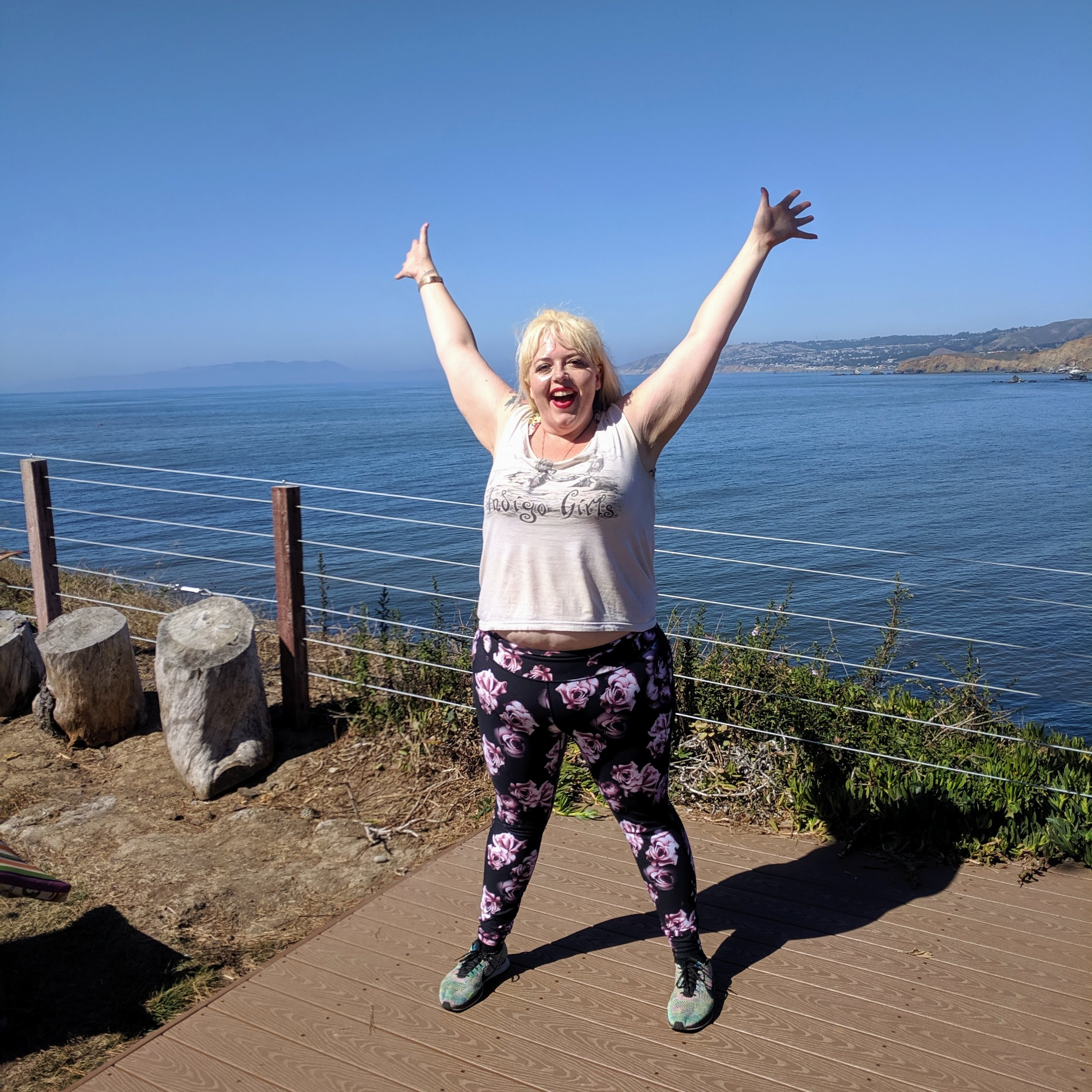 I taught at a private party overlooking the Pacific Ocean this weekend and there were whales breaching! It's the first time any sea mammals have attended Fat Kid Dance Party!