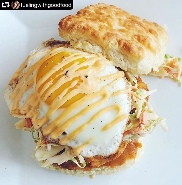 This is your friendly, good-neighbor reminder that you can score an Asheville Chicken or any of our delicious biscuits until 2 pm today (it's basically a weekend)! Roll out of bed whenever you decide it's time to wake up and join us for a delicious, #allbutter #allthetime biscuit! (Oh yeah, we're serving lunch at the normal time in case you need your BLT fix.) . Photo credit: @fuelingwithgoodfood . . #biscuit #biscuits #breakfast #brunch #rva #richmond #rvadine #rvafood #rvabrunch