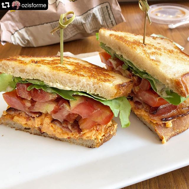 We've got at least another couple weeks for you to enjoy our Hanover Tomato BLT featuring Bangin' Pimiento Cheese from @soulnvinegar and delicious, naturally leavened bread from @idlehandsbread . . And don't forget to share your BLT photos with the hashtag #bltphotobomb for your chance to win free food from our awesome local partners and from us too! . Photo credit: @ozisforme . #bltphotobomb #bltsandwich #blt #local #pimientocheese #naturallyleavened #bread #lunch #freefood