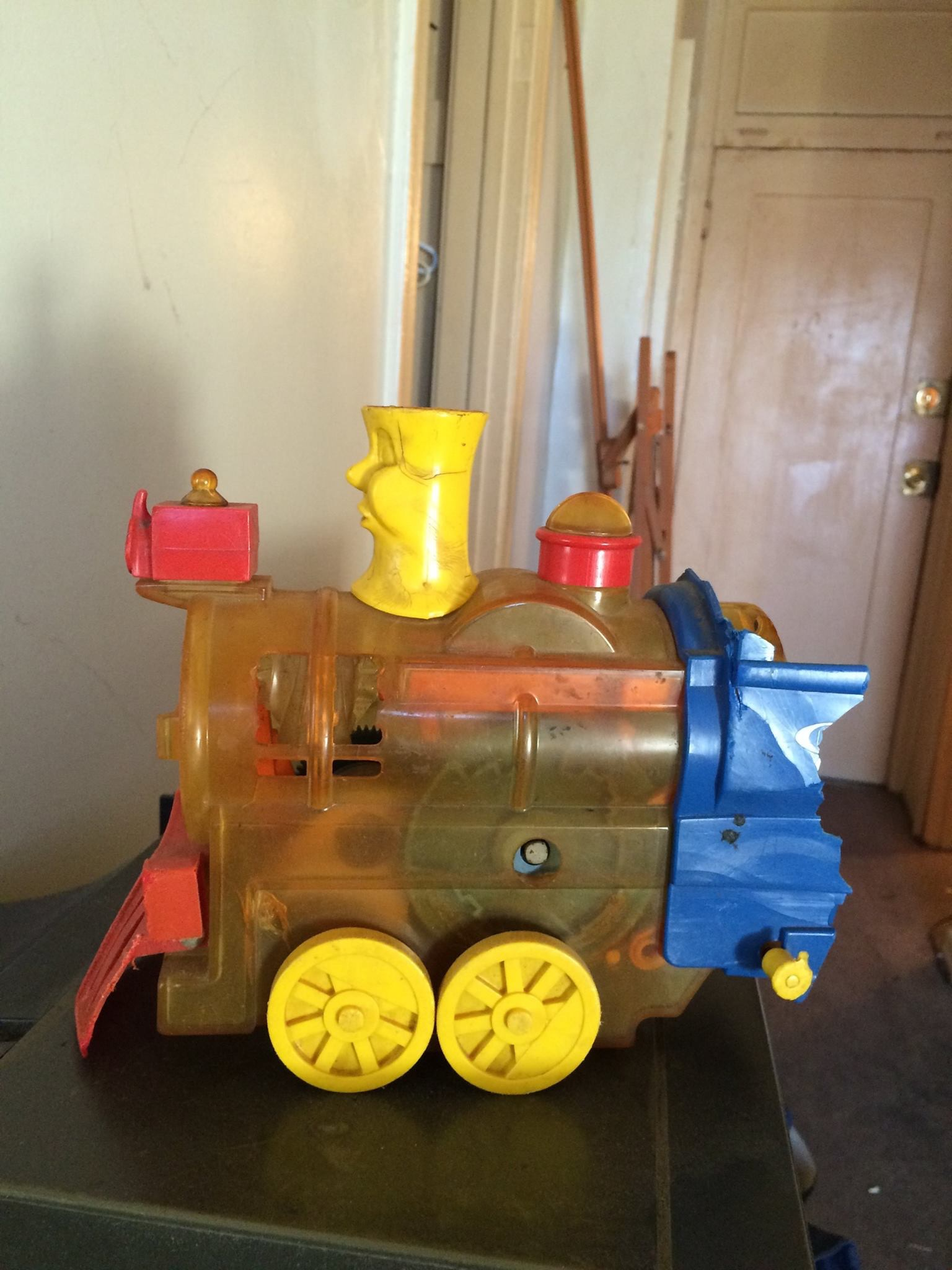 "The train that he used to play with at his Amah's (my mother) when he was a toddler. I asked him why, out of everything, he kept this. He said: ""you know, AMAH."""