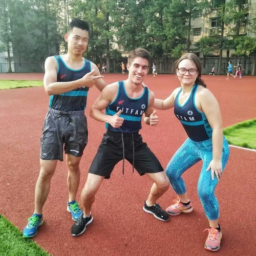 From left to right: Jeff, myself and Alicja at Jiao Tong University, Shanghai, China