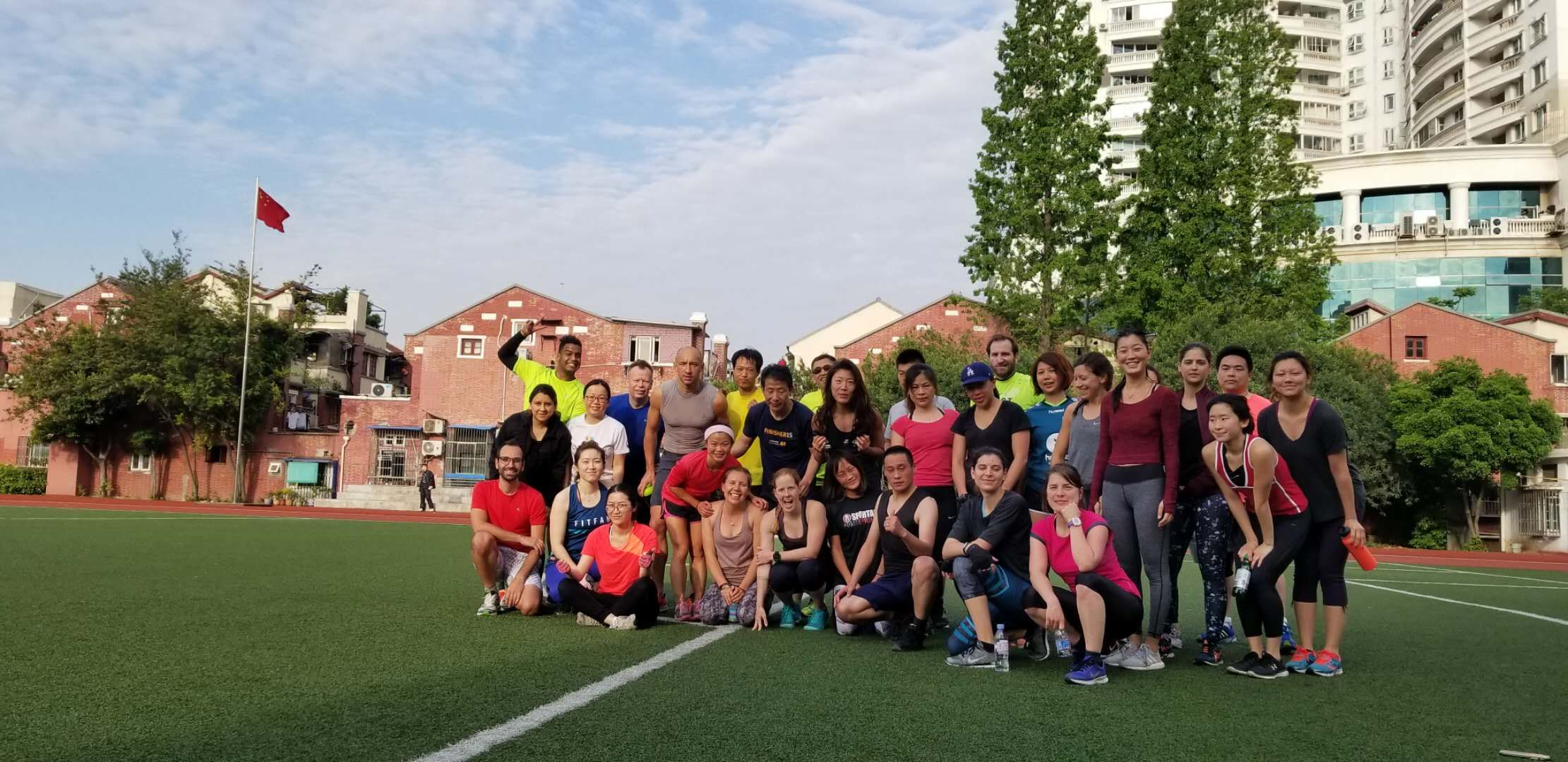 Steven and the rest of our SBC workout crew in Shanghai, April 28th, 2018