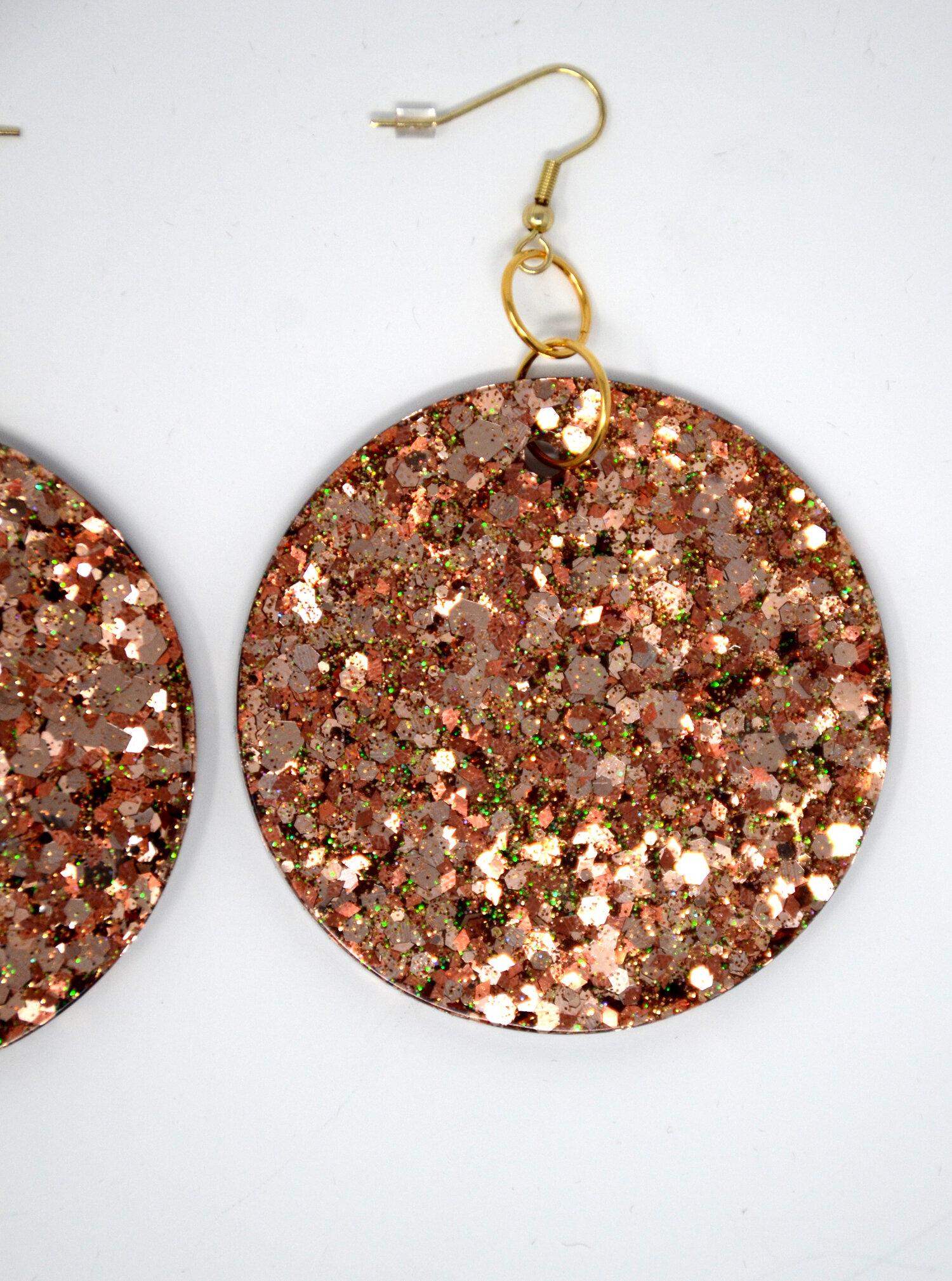 Handmade glittery earrings