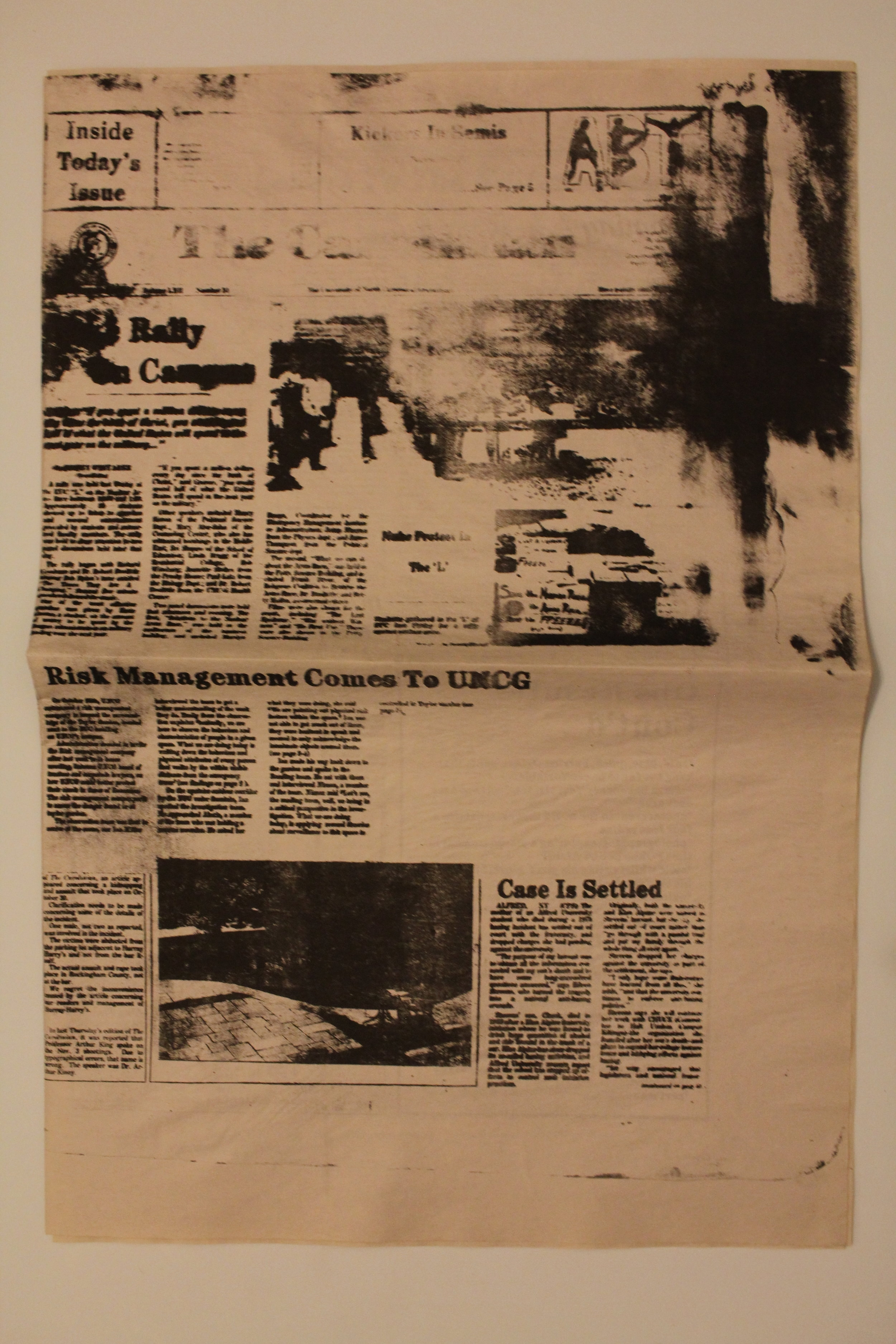 Risk Management 1: Newspaper, lithograph, 24 x 18 inches, ed of 30, 2017