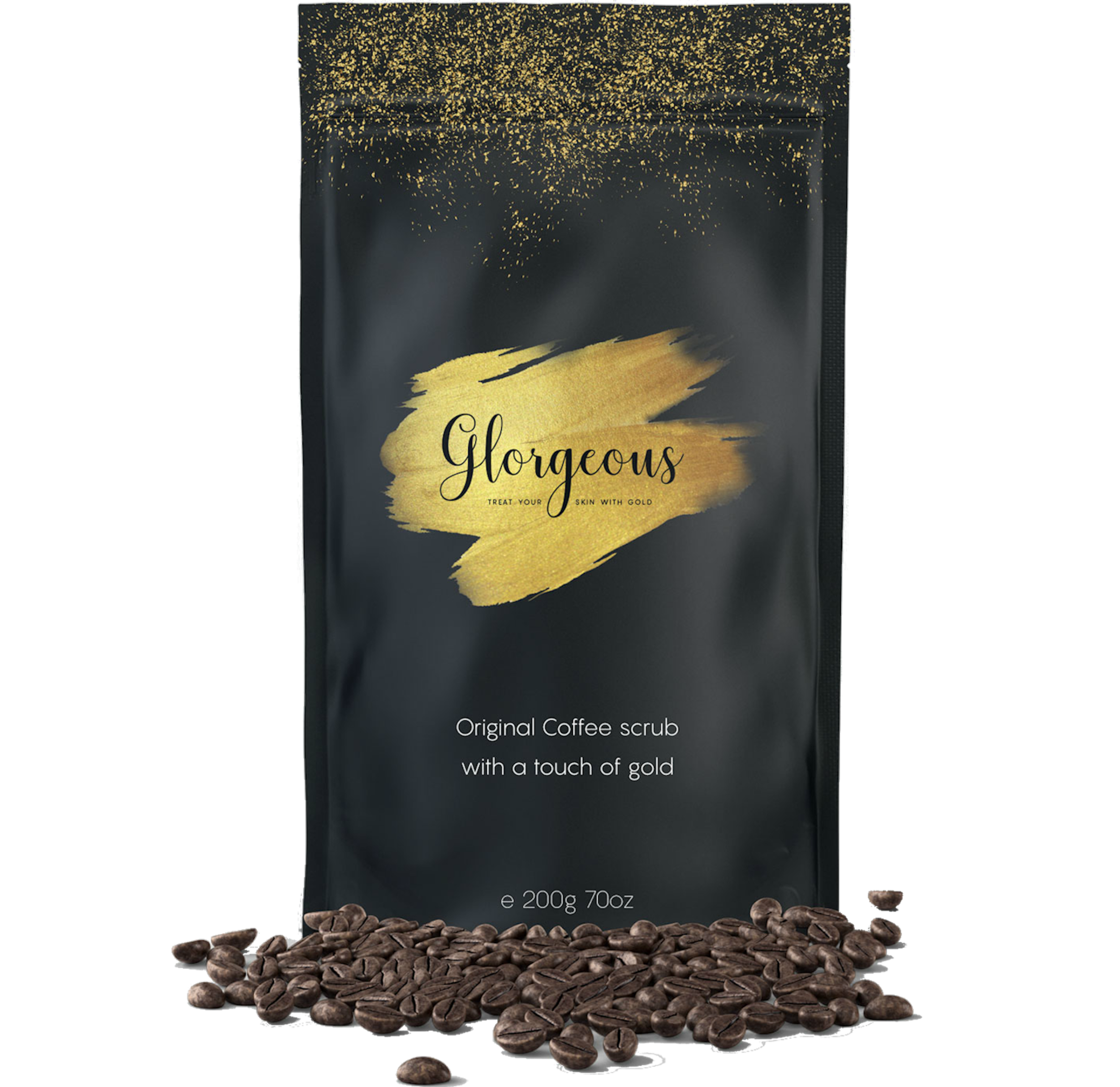 THE ORIGINAL COFFEE SCRUB WITH A TOUCH OF GOLD... -