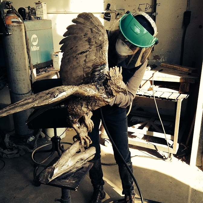 LEARN MORE ABOUT THE VULTURE SCULPTURE PROCESS -