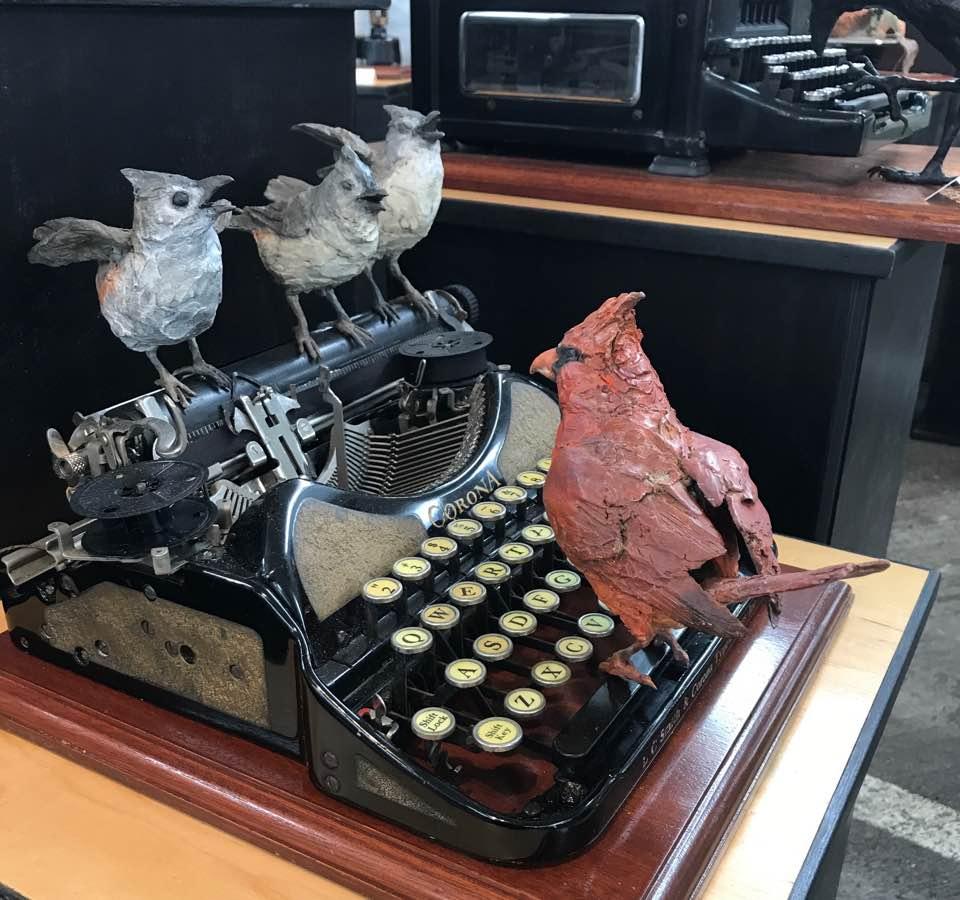 Titmice and Cardinal Typewriter.jpg