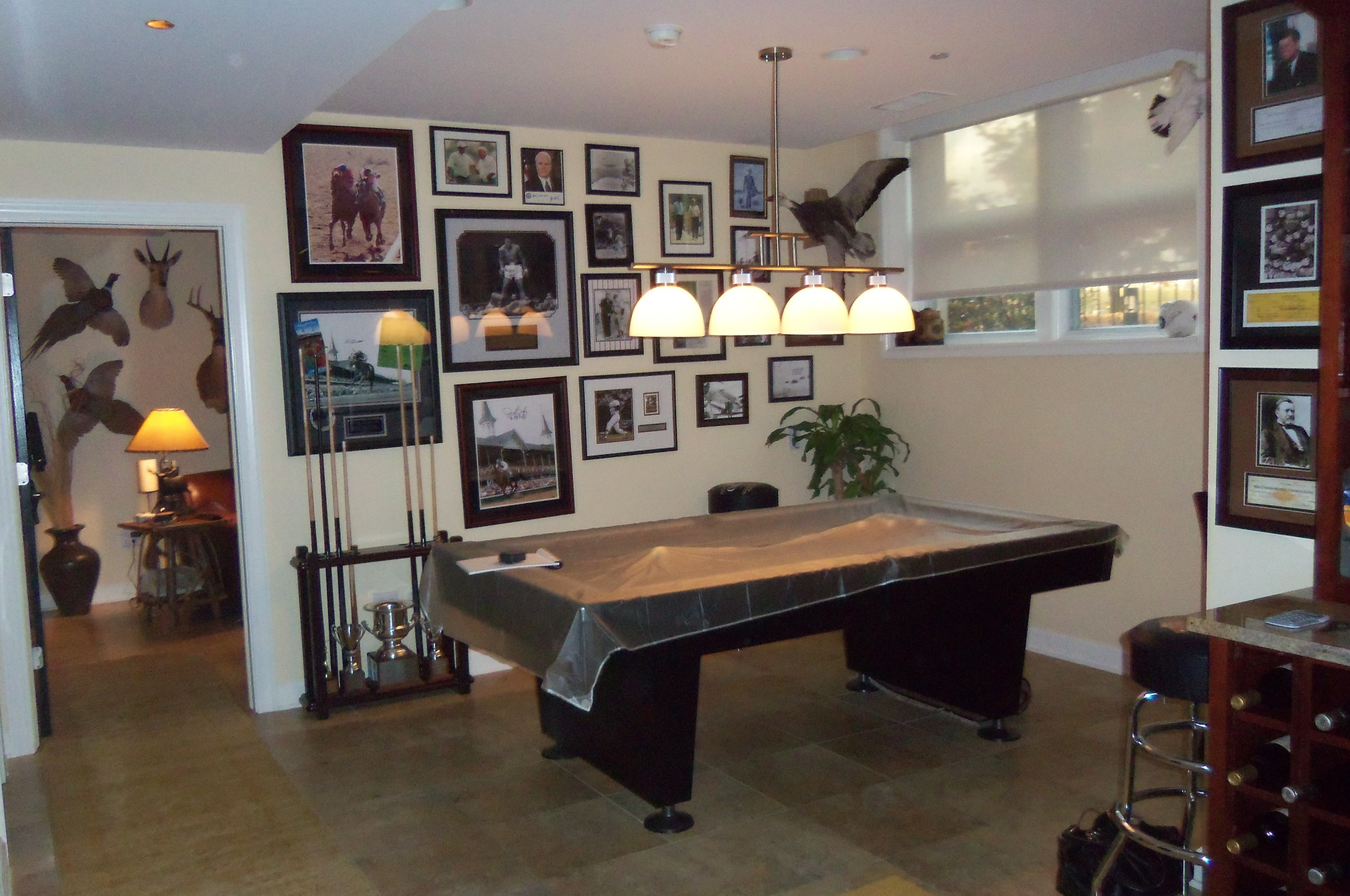 Before Photo: Pool Table Area