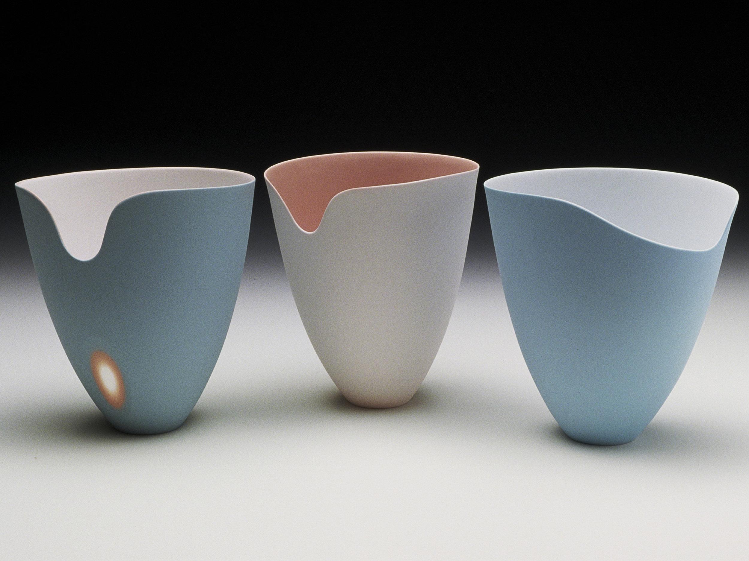 Azure Blue, Coral Pink - 12 cm h