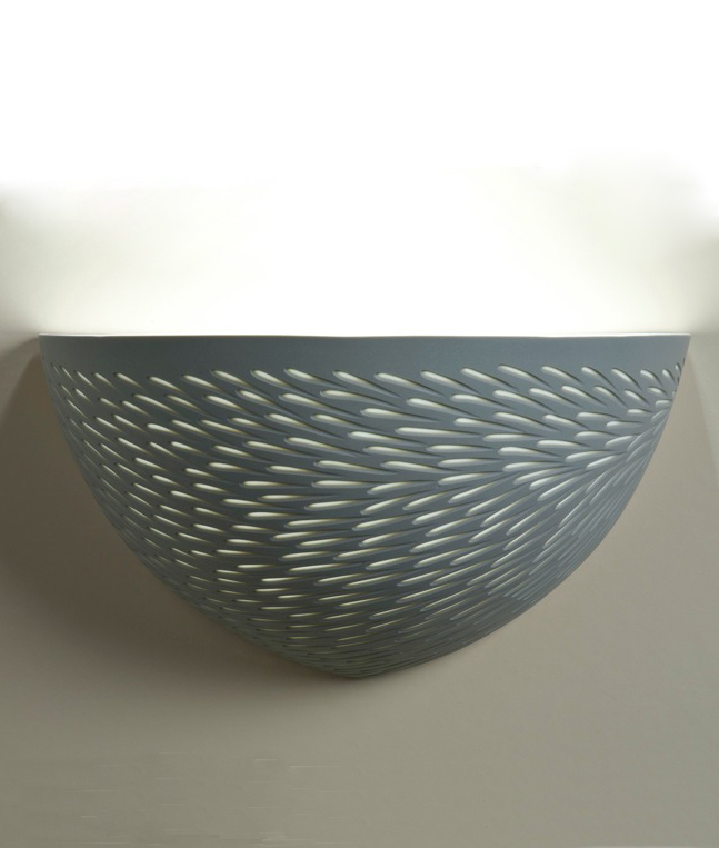 Olive Green 'Shoal' Wall light  - 25 cm h
