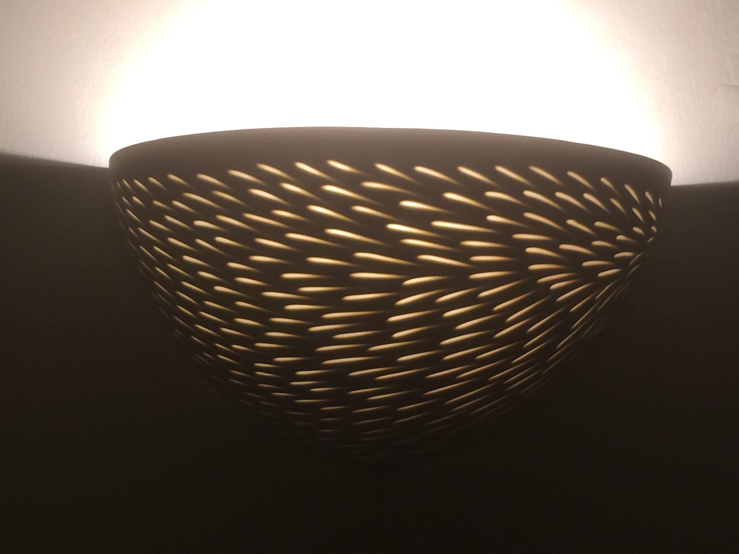 Sepia Taupe'Shoal' Wall light - 25 cm w