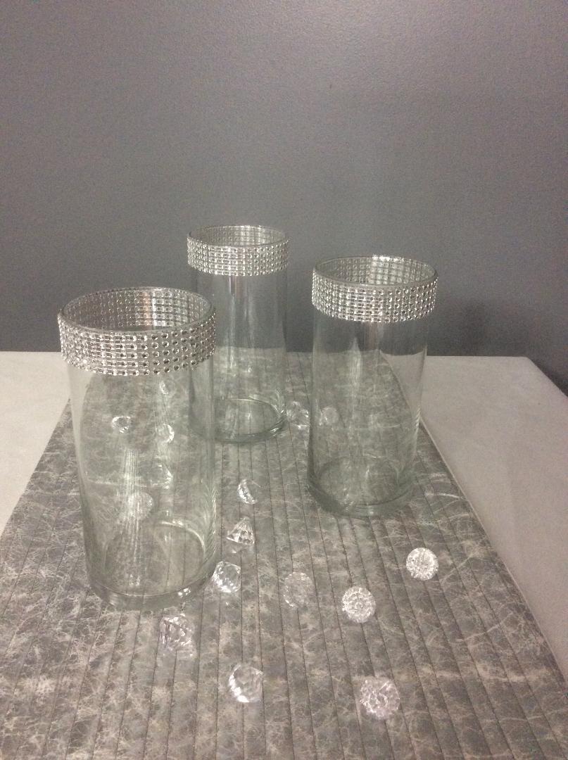 "Cylinder Vase  - Rental $1.50 each - 7"" - 35 available"