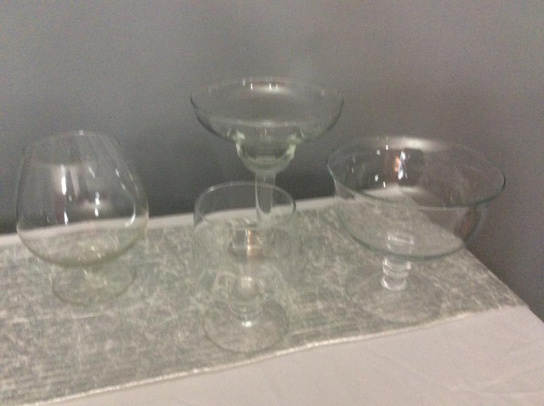 Glass Bowls Assorted - Rental $2.00-$10.00 each - assorted available