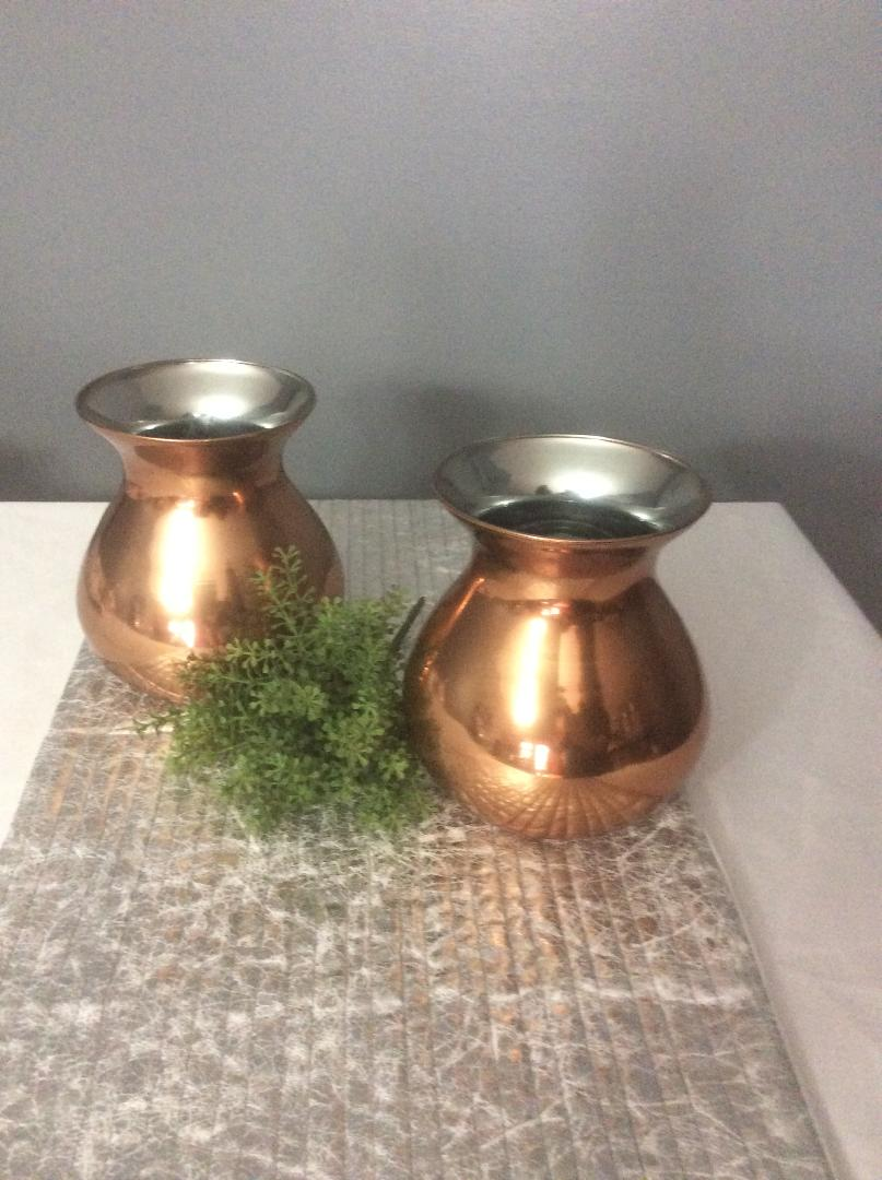 Copper Vases  - Rental $2.50eaxh - 7x5 - 12 available