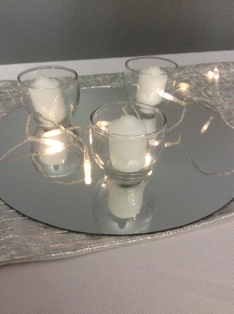 """Glass Mirror - Rental $2.25 each - 12"""" - 20 available"""