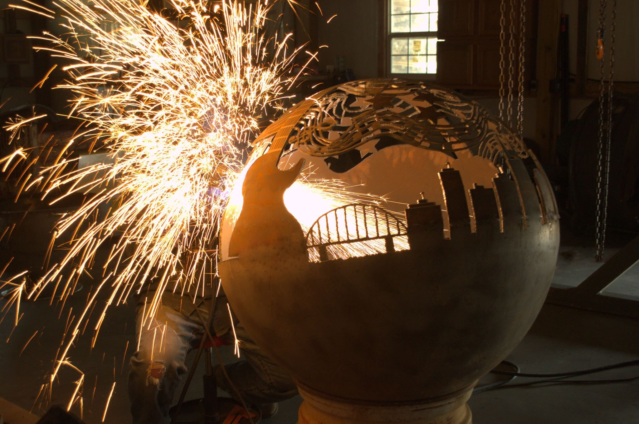 Hand Cut With A Torch - David cuts all his bowls and spheres by hand. These are heirloom quality products with each one being unique and built to last a lifetime.