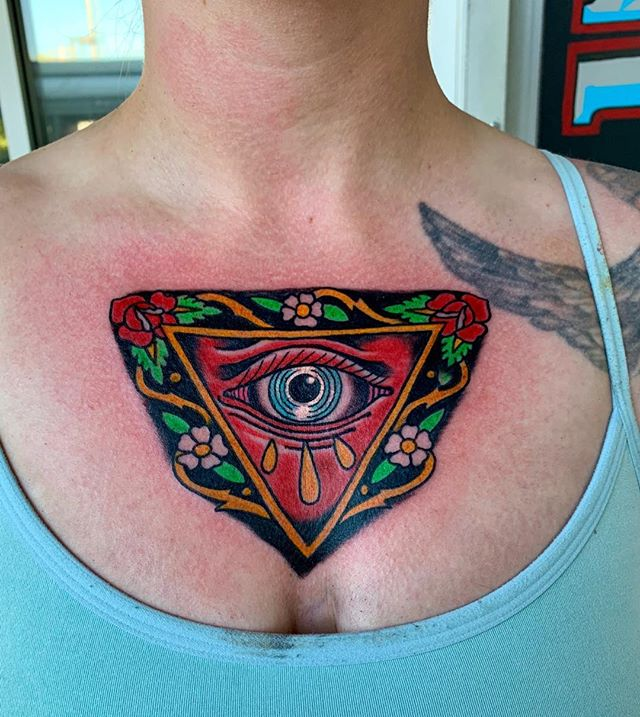 Fun tattoo . Sorry about your shirt.