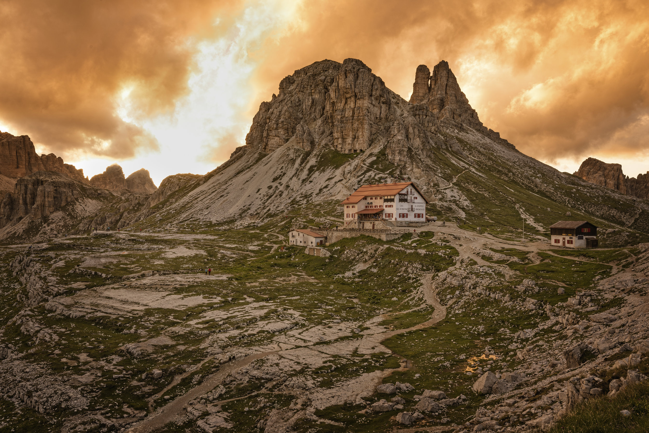 Our little home in the Dolomites. It only went downhill from here :-)
