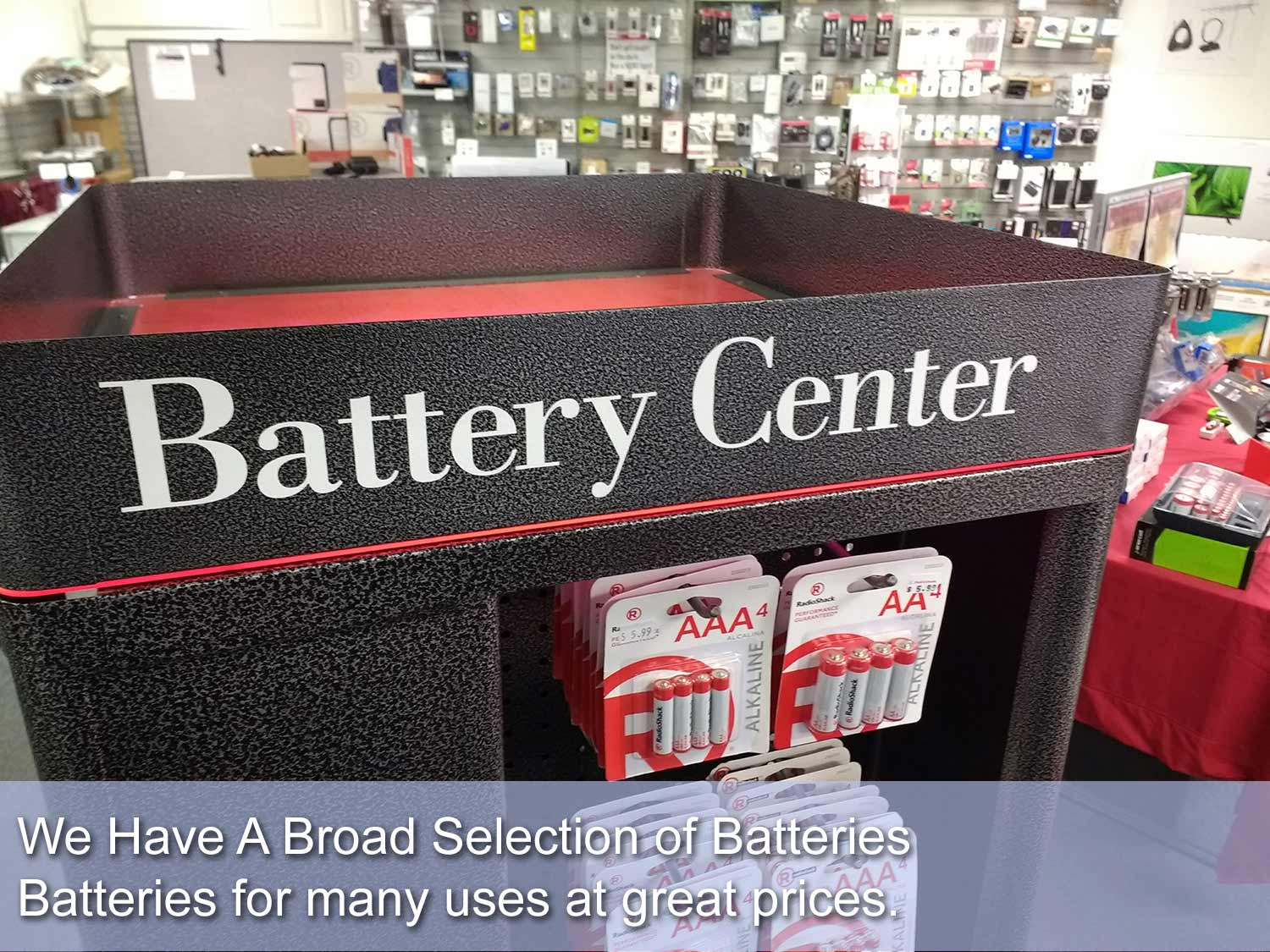 Battery center for Leelanau County with a wide stock of batteries for most uses.