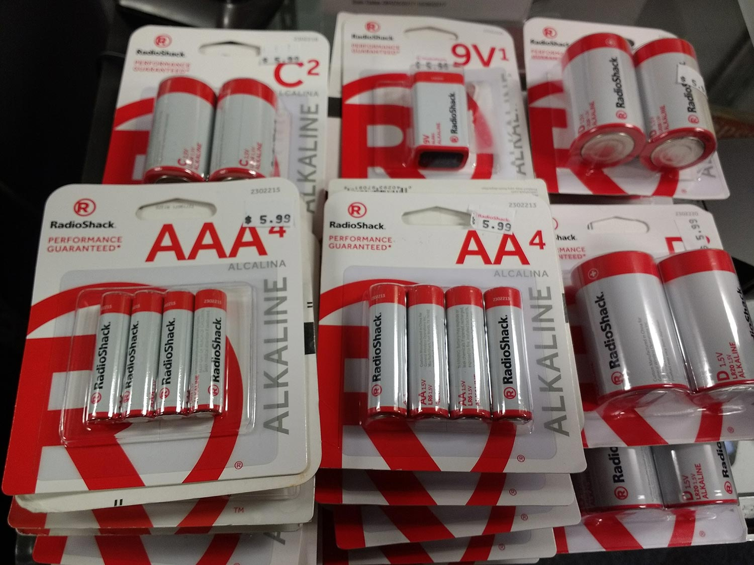 We stock AA, AAA, C, D, 9-Volt and many other conventional batteries.