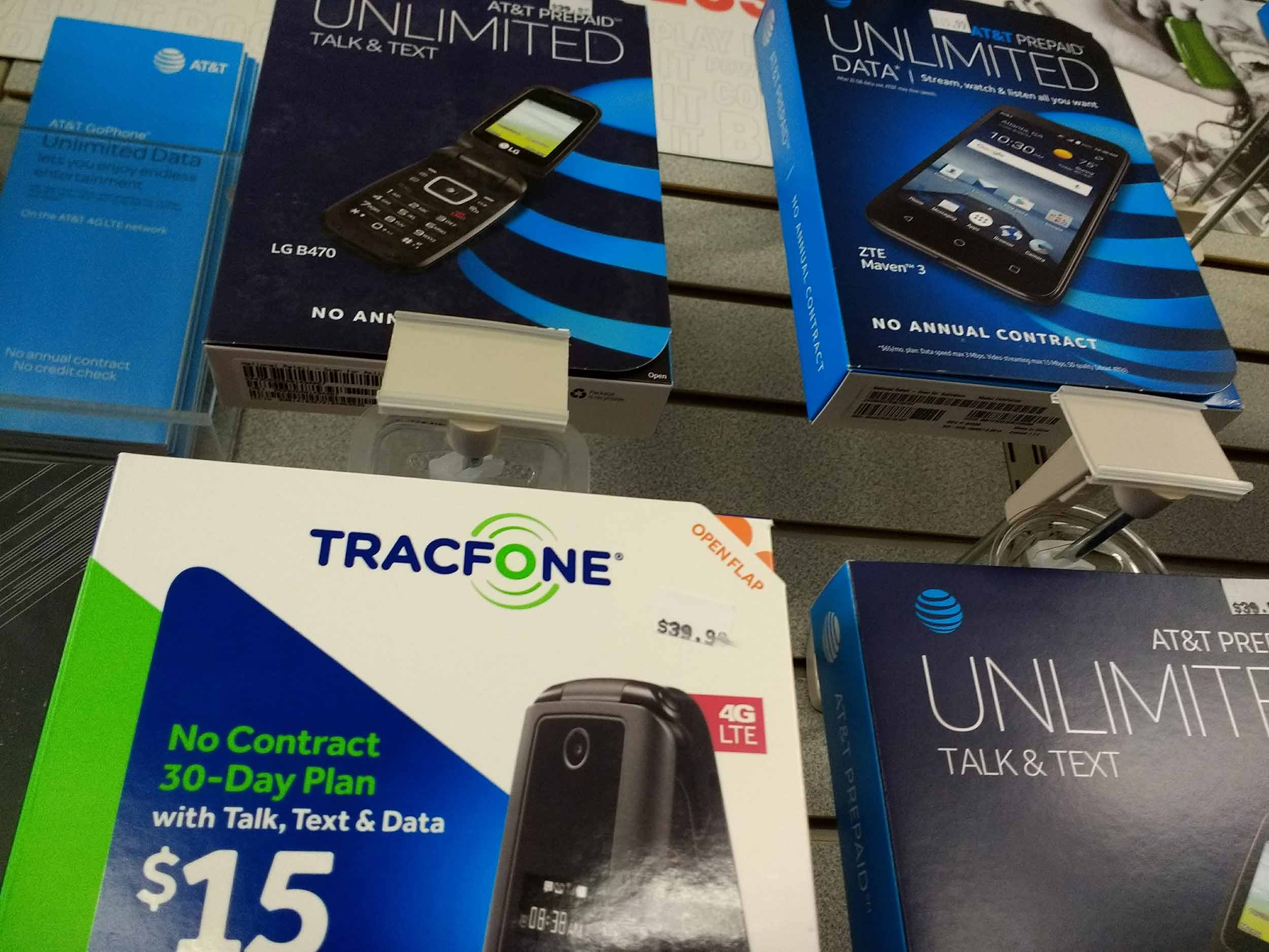 We have TracFone and other no-contract smartphone options.