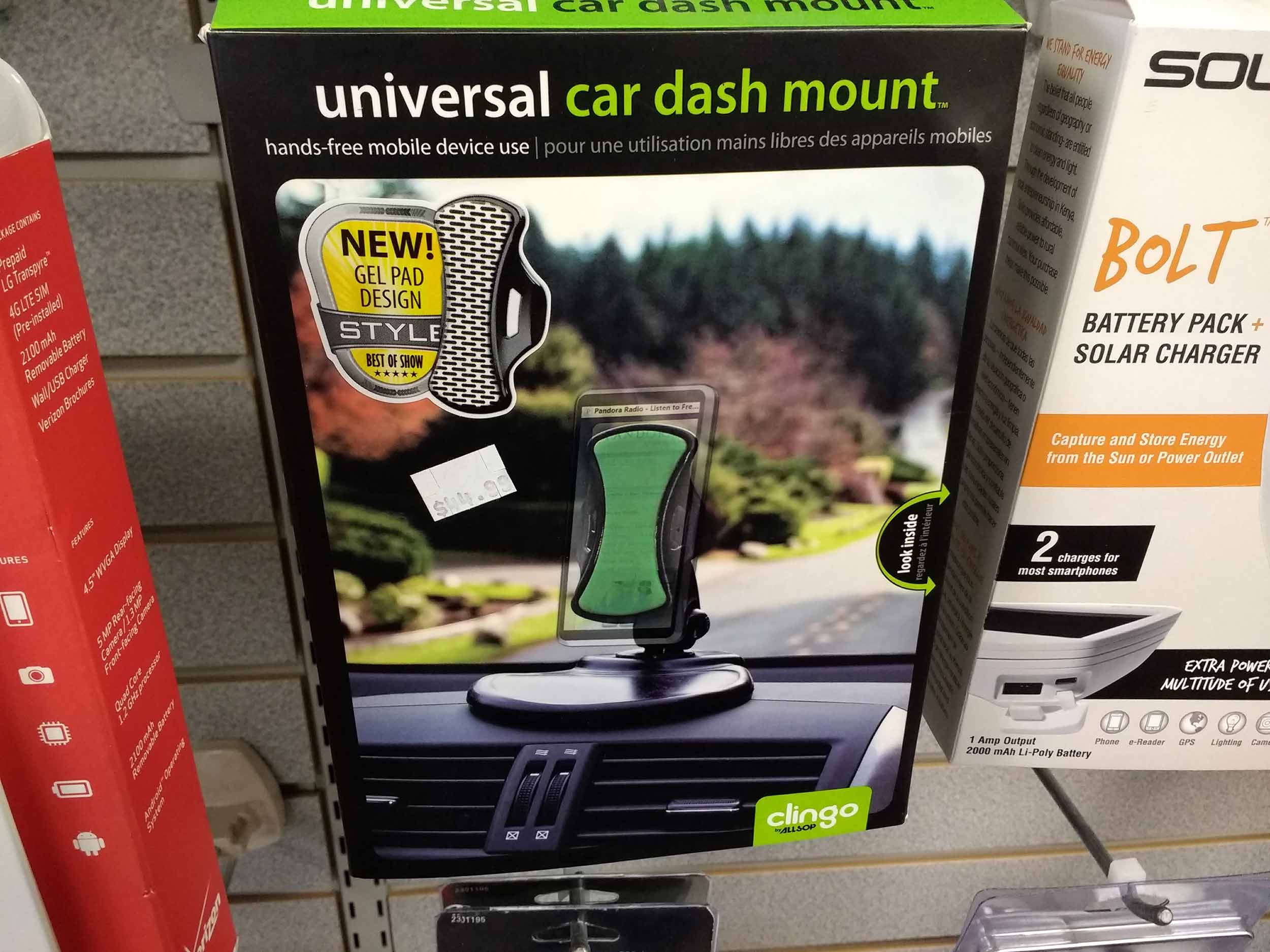 Use your smartphone safely with a dash mount accessory.